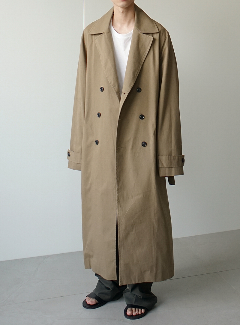 Oversized Trench Coat (3color)