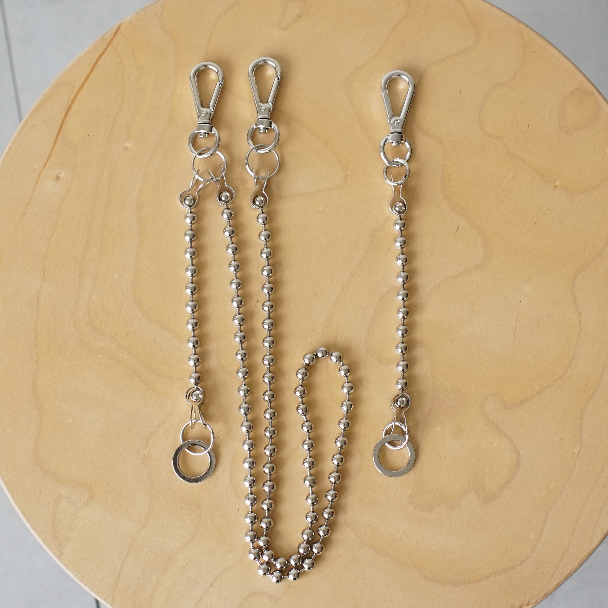 Ball Chain Keyring Set