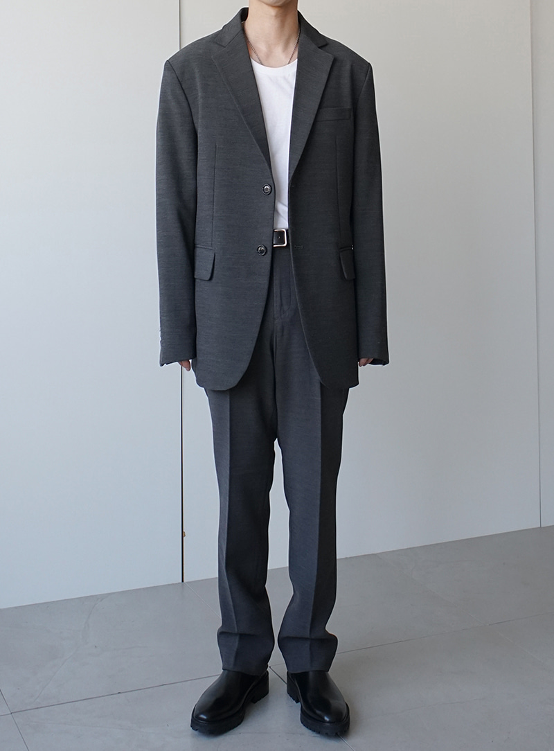 Finn Two Button Blazer Set Up Gray