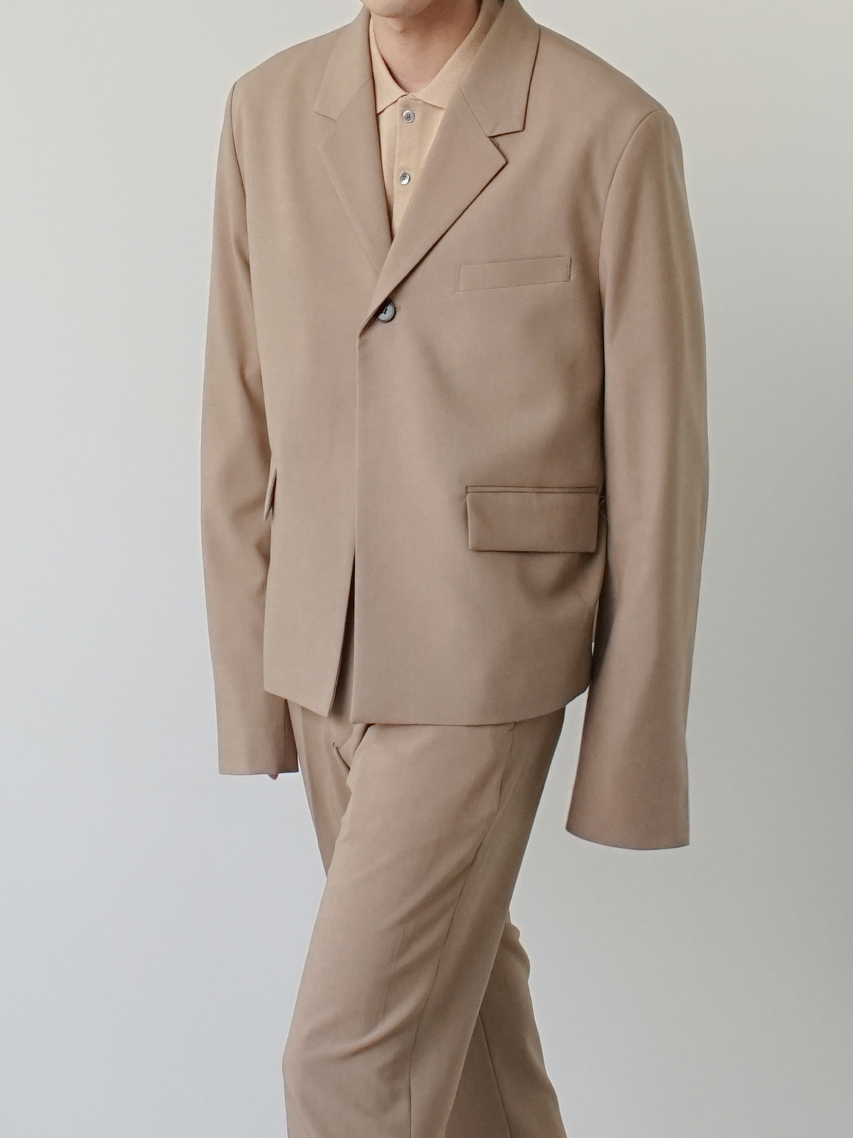 Week One Button Linen Blazer (3color)