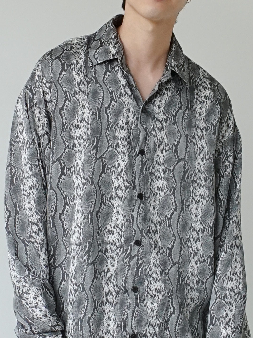Les Silky Patterned Shirt (2color)