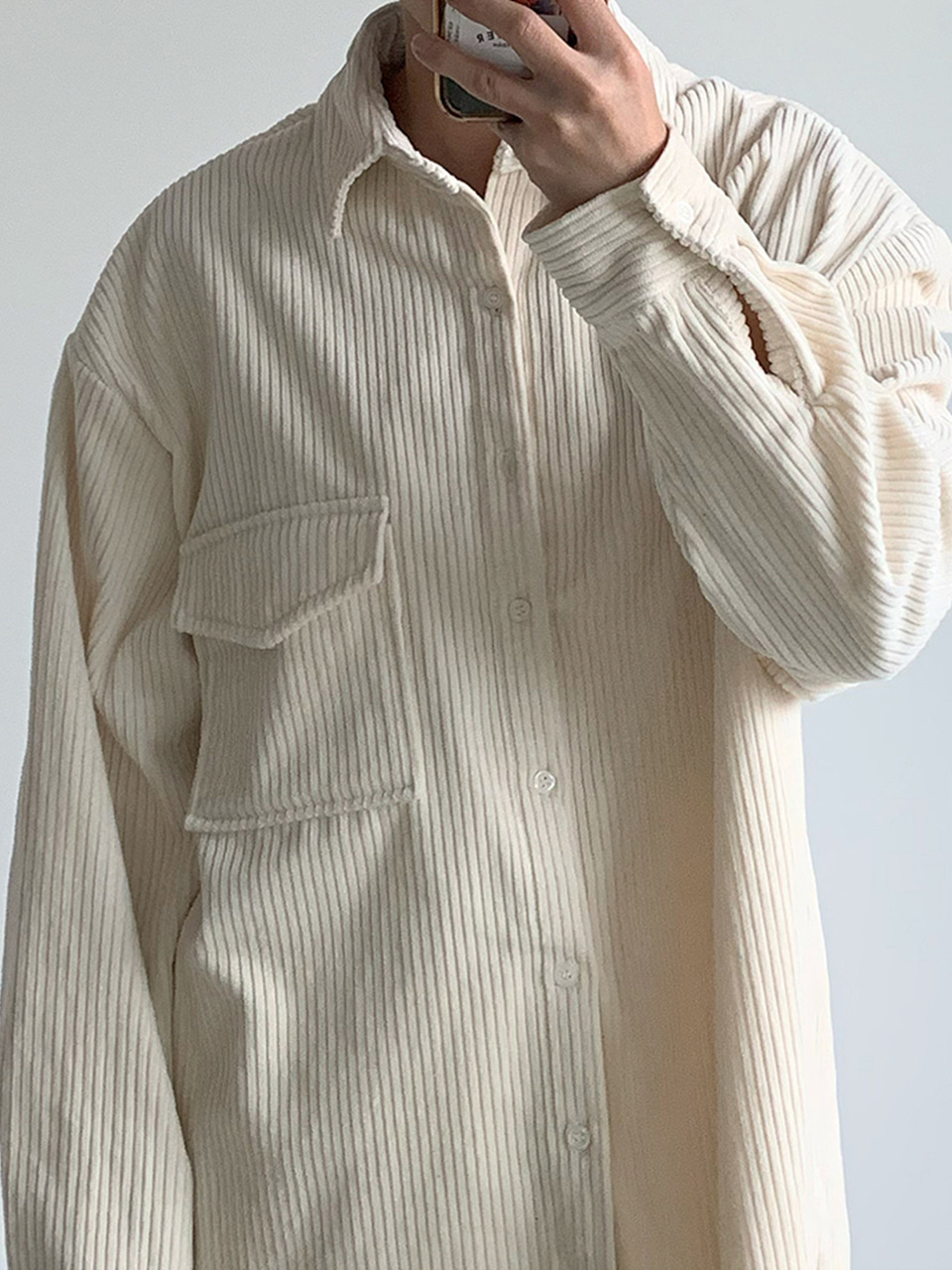 Rius Corduroy Oversized Shirt (2color)