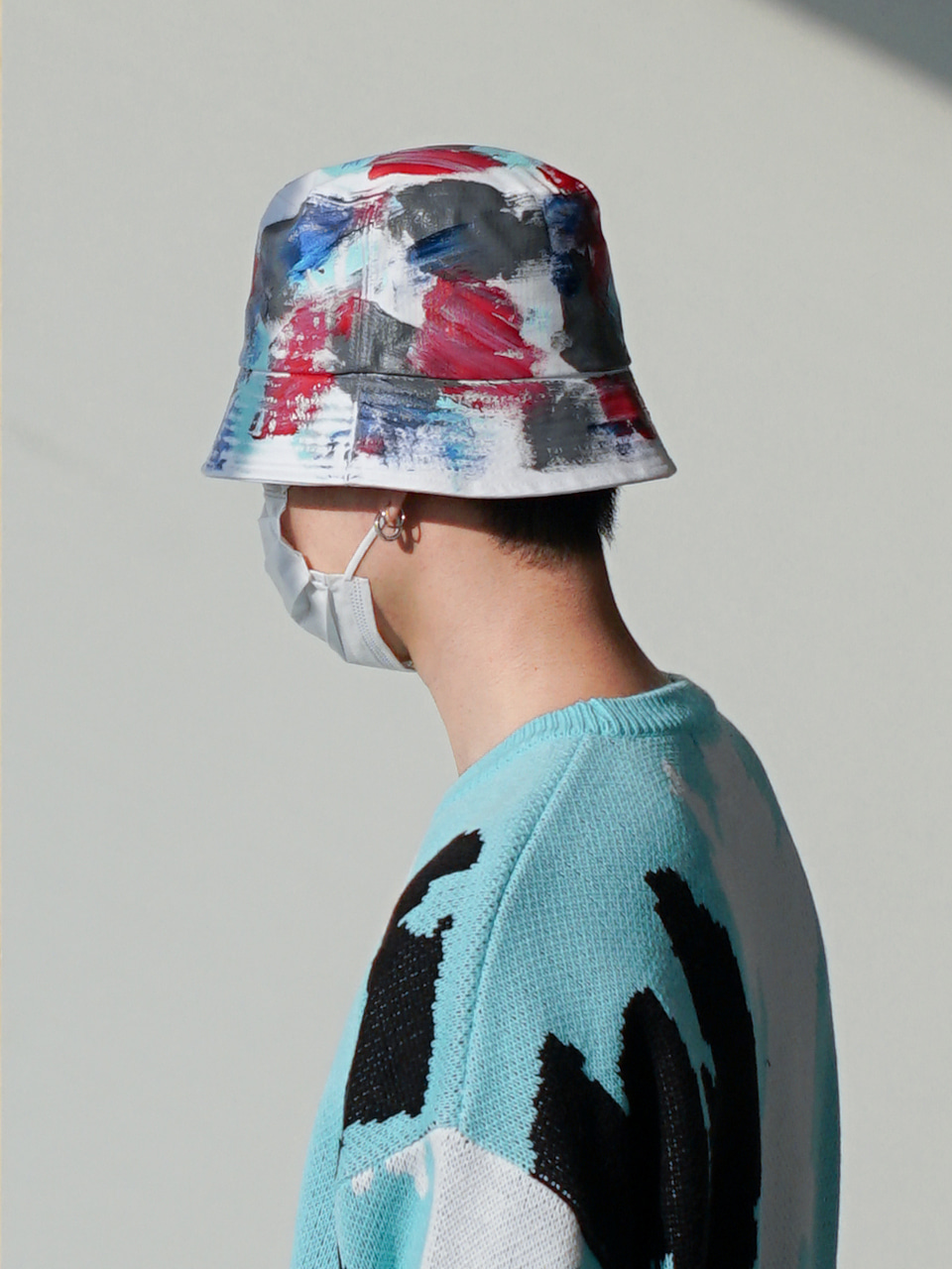 Margaret Painted Bucket Hat (2color)
