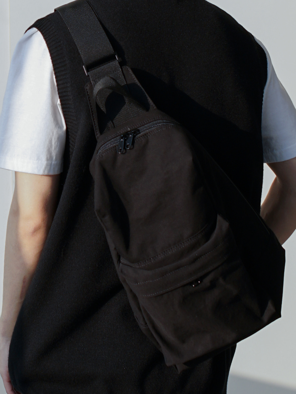 Way Cotton Sling Bag (2color)
