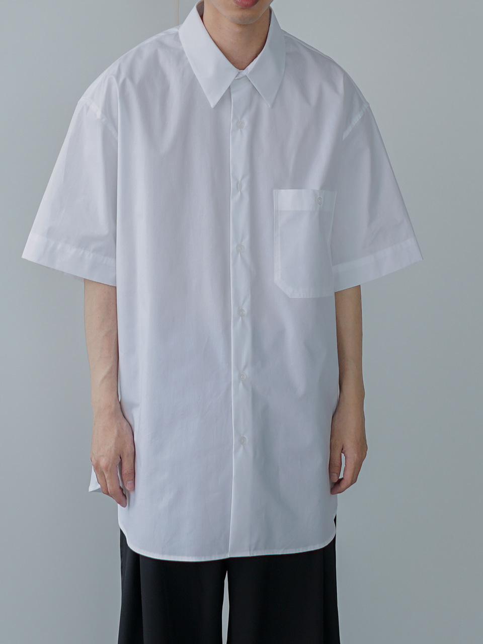 Down Oversized Half Shirt (3color)