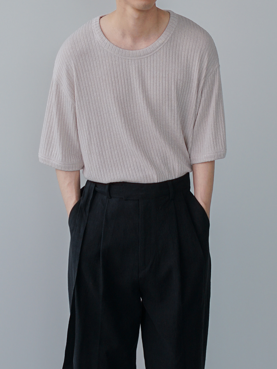 Milo Relaxed Half Knit (5color)