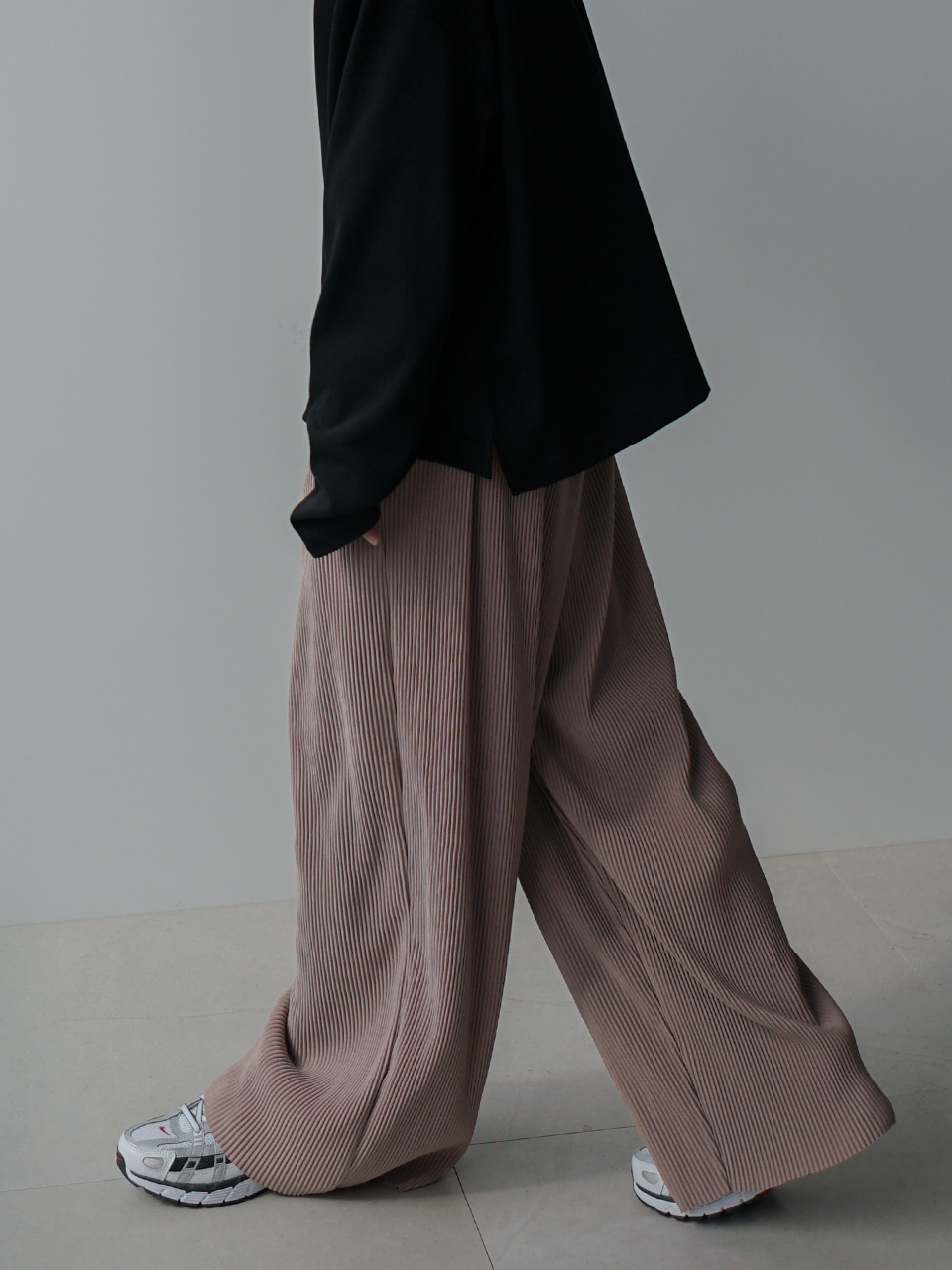 Maxi Wide Pleats Pants (5color)