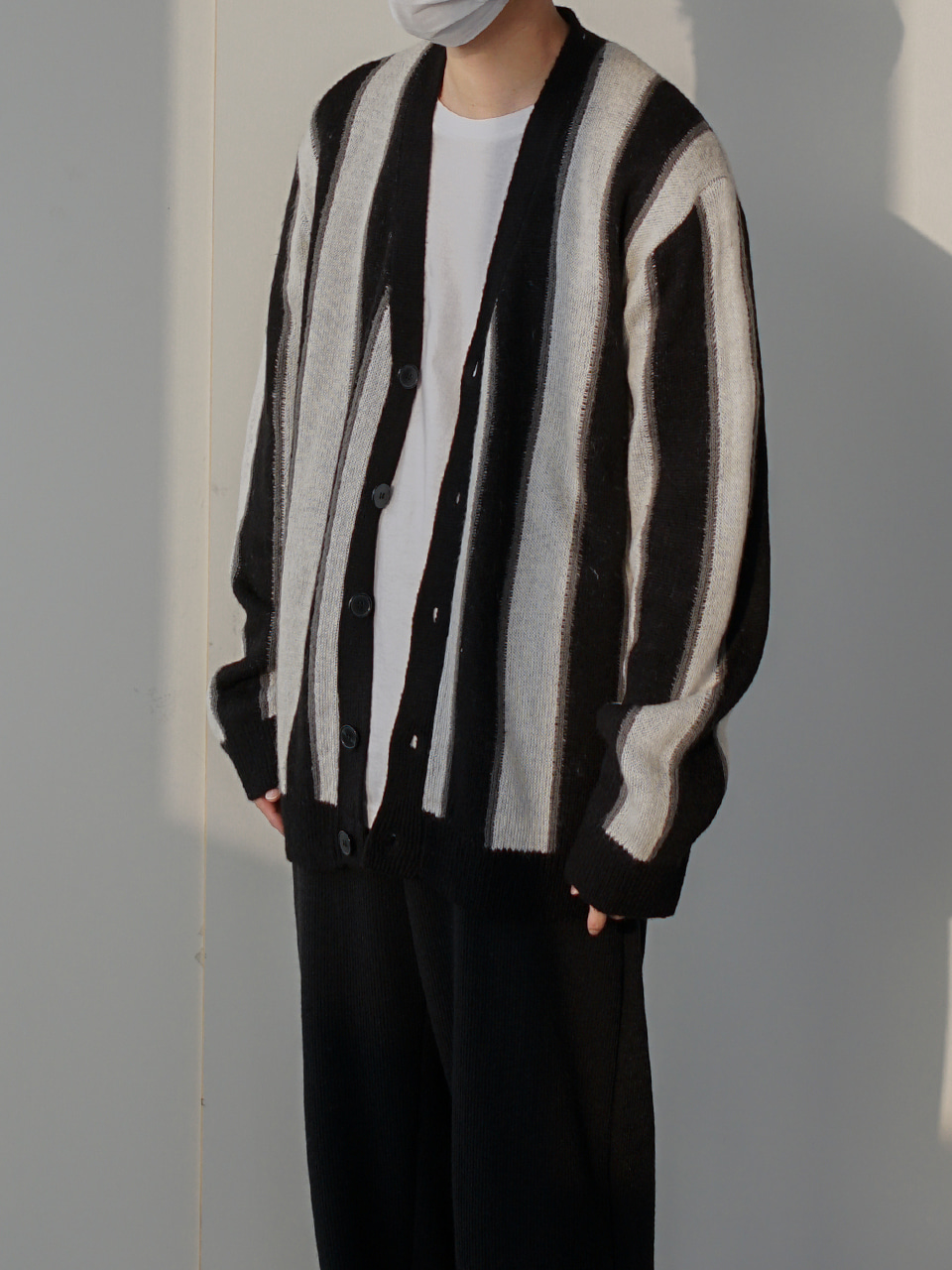 John Stripe Knit Cardigan (3color)