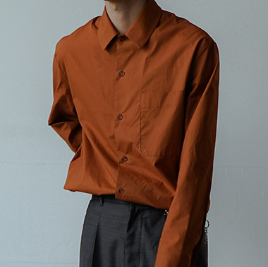 ORANGE BROWN SHIRT