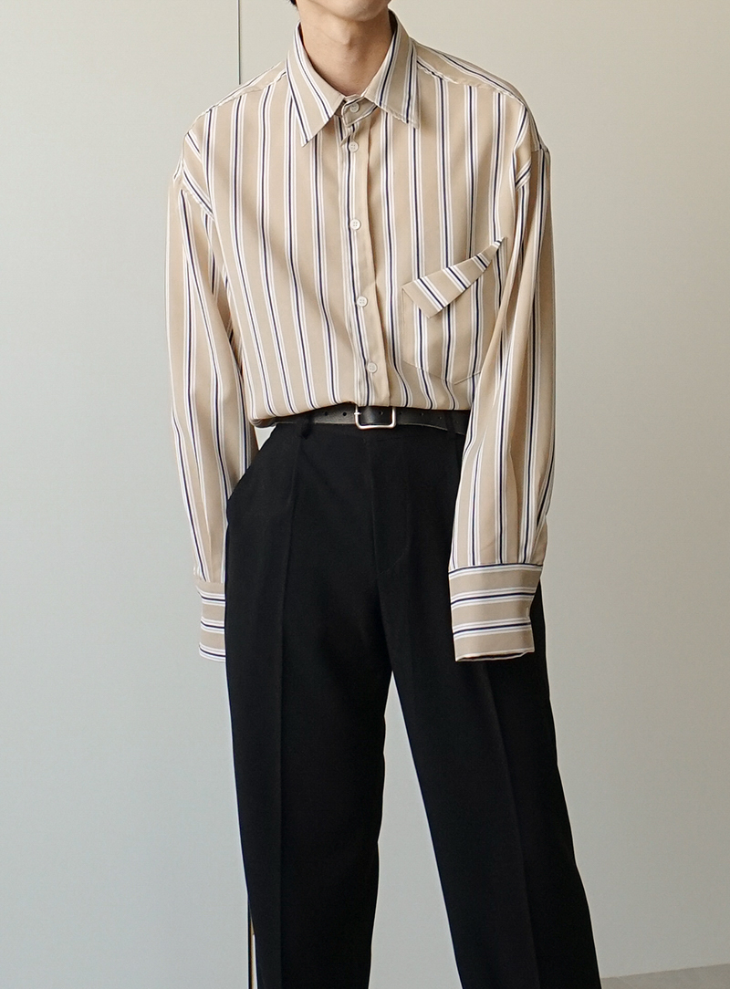 Stripe Fold Shirt (2color)