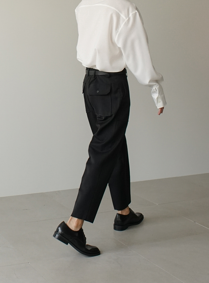 Out Pocket Crop Trousers (2color)