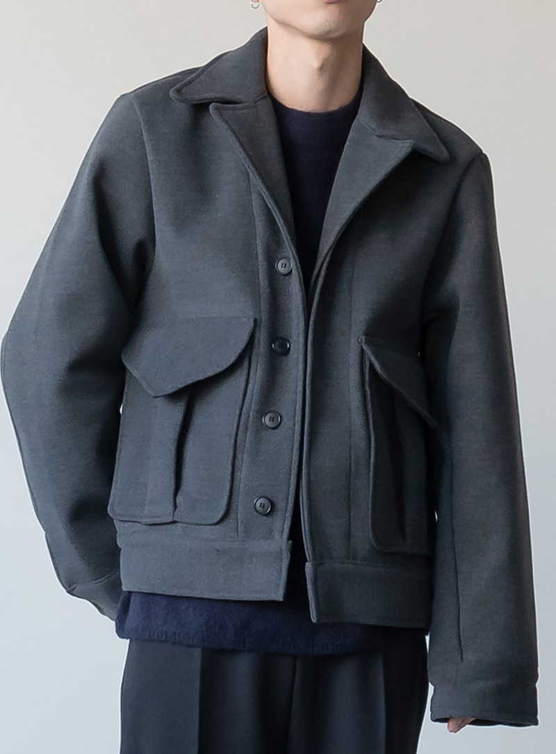 Double Pocket Over Short Coat (2color)
