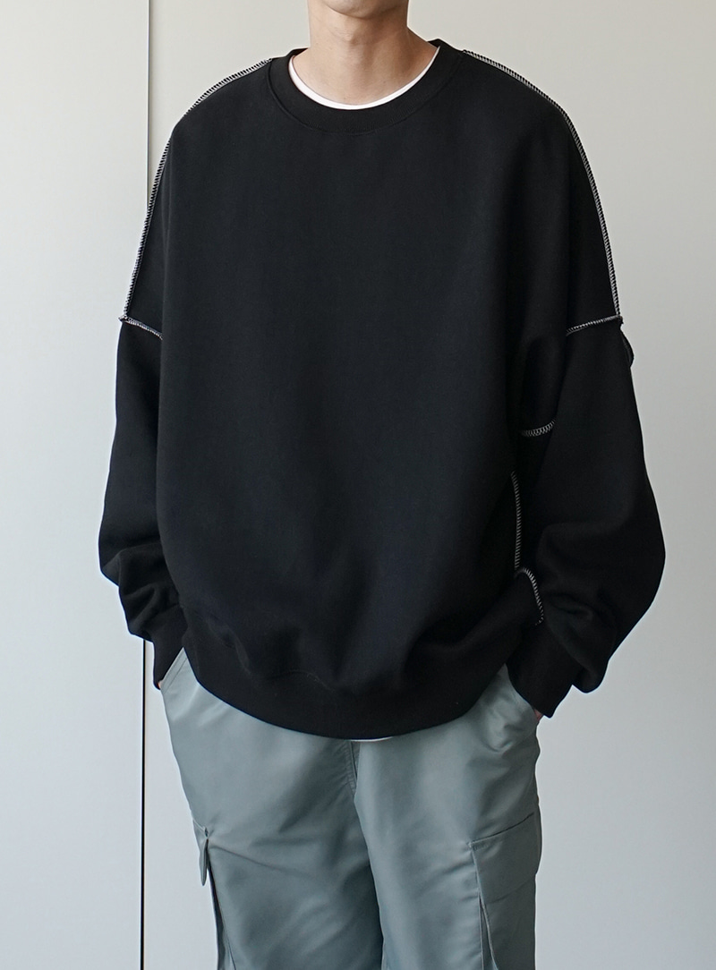 Out Stitch Over Sweatshirt (3color)