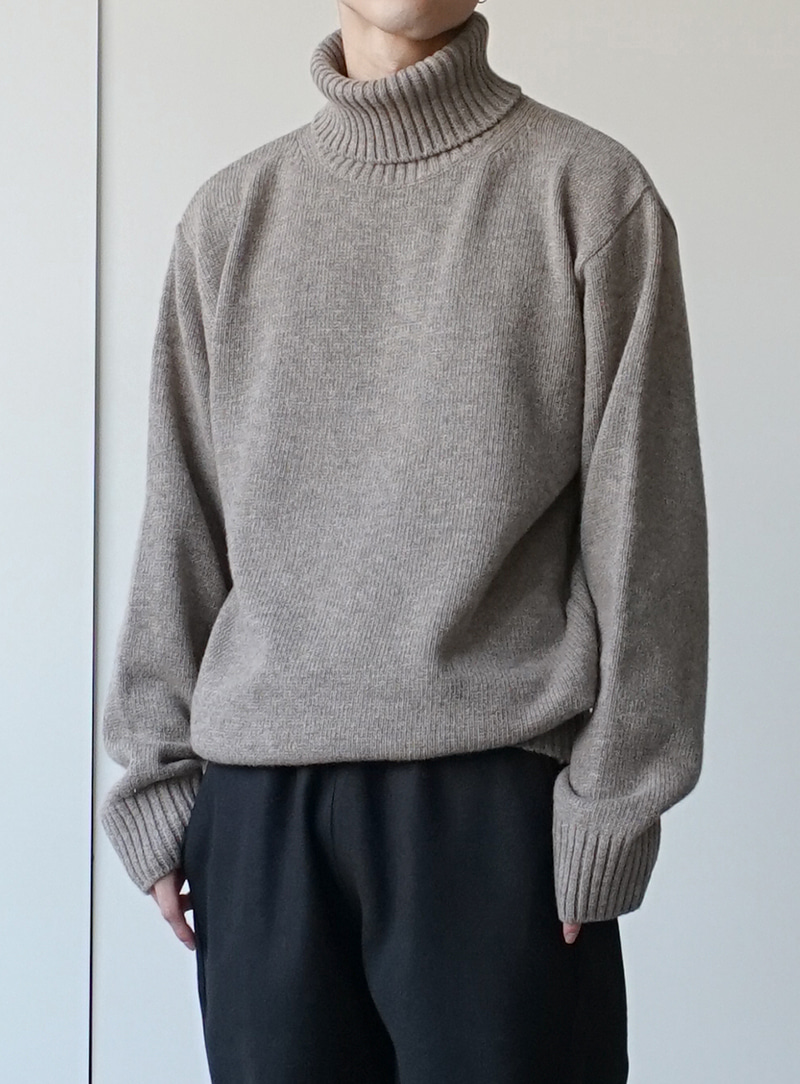 Heavy Wool Turtle Neck Knit (4color)