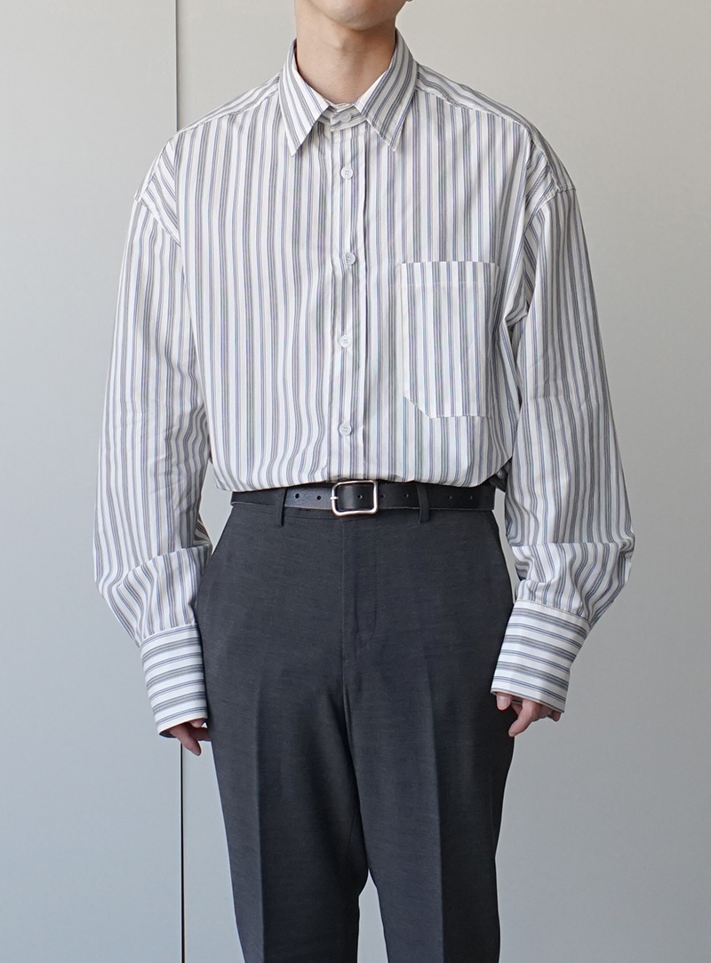Blen Stripe Shirt (2color)