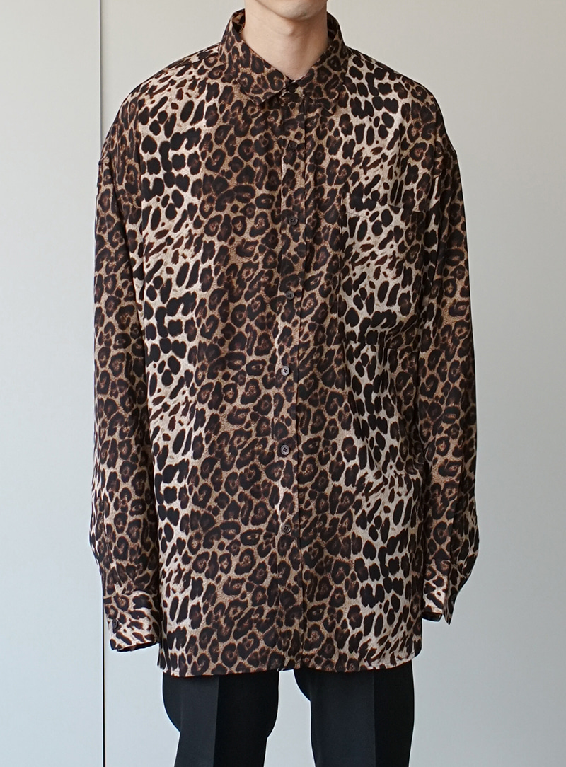 Leopard Skin Shirt (2color)