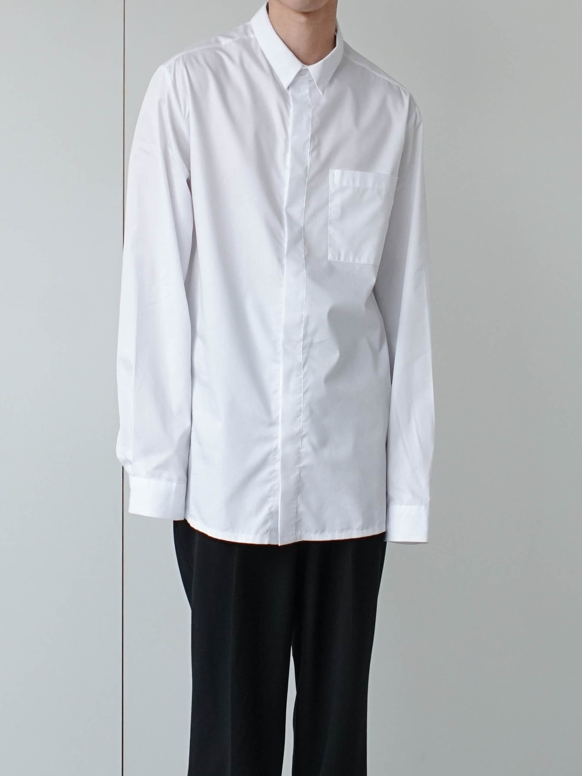 Minimal Pocket Hidden Shirt (3color)