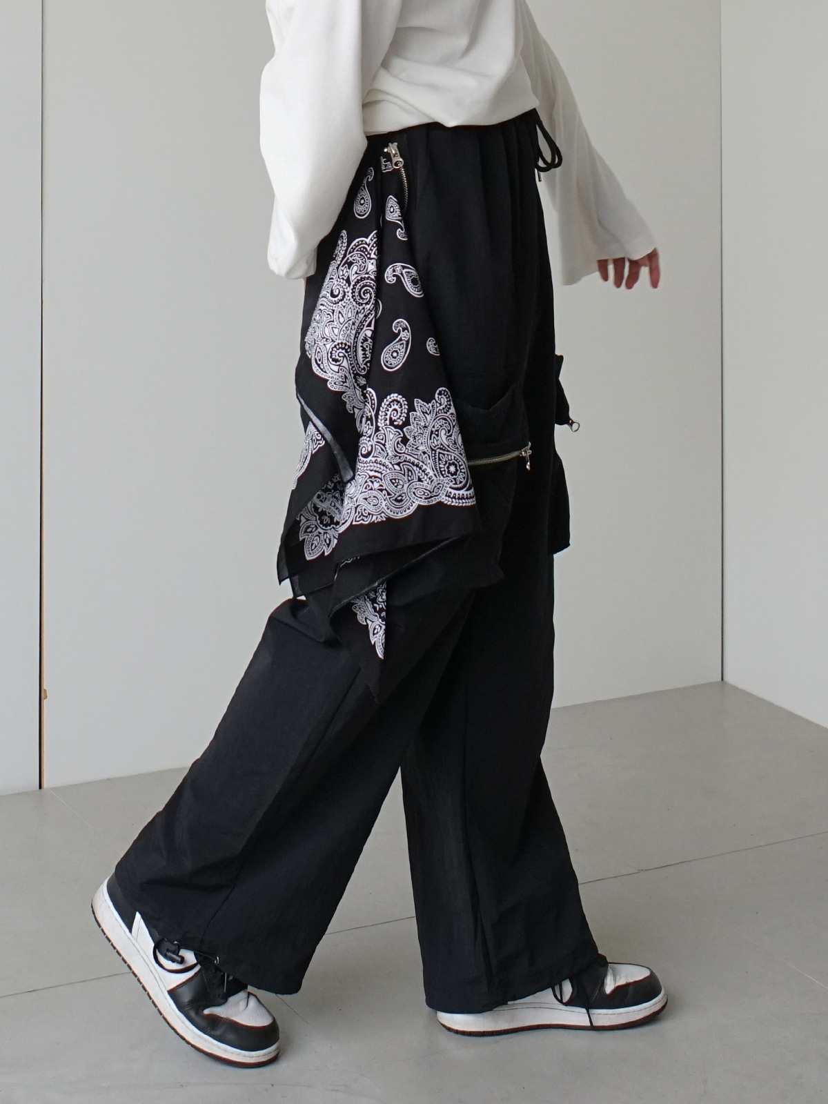 NuThing Wide Bandana Pants (2color)