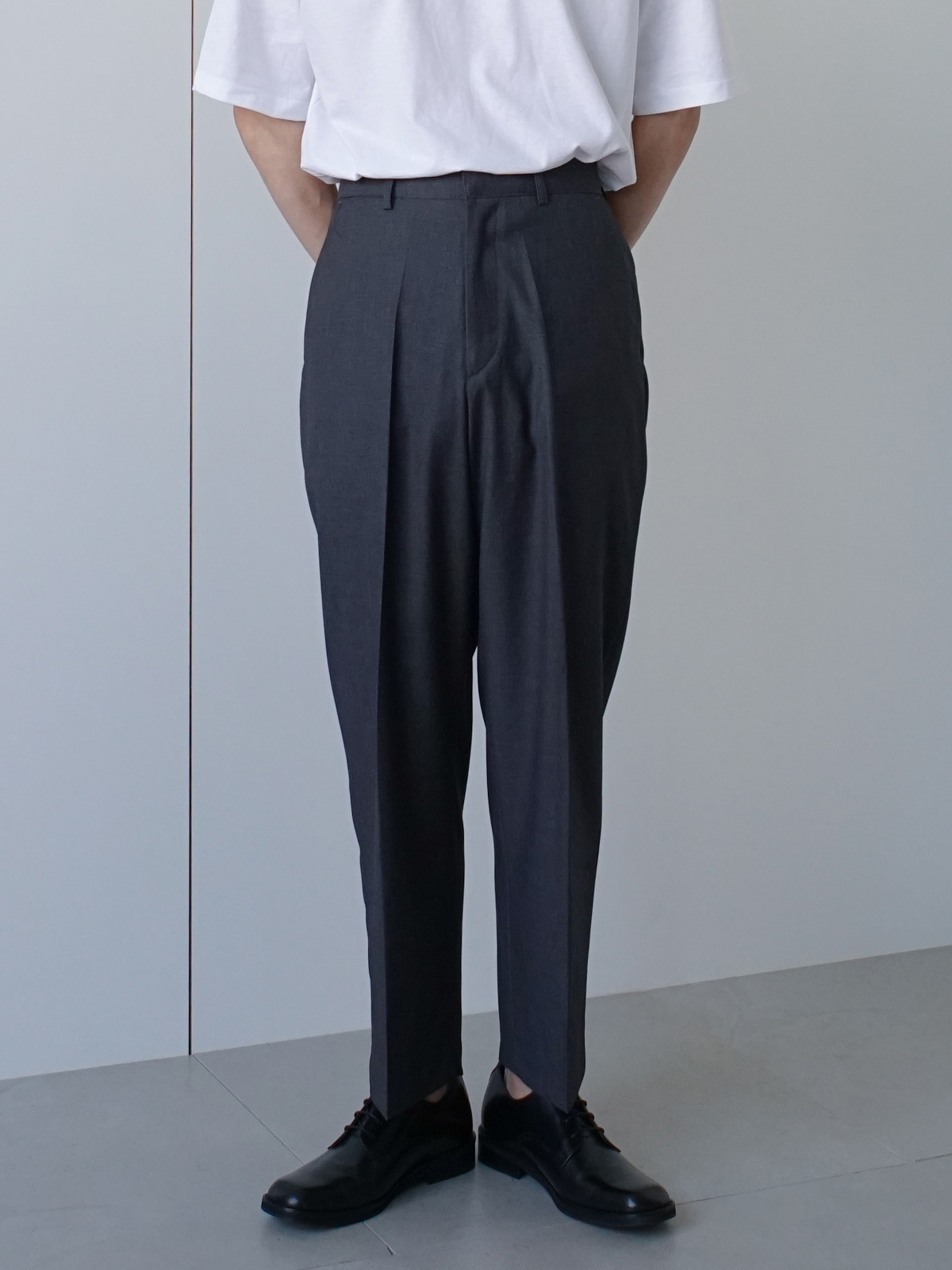 Afternoon Crop Banding Trousers (3color)
