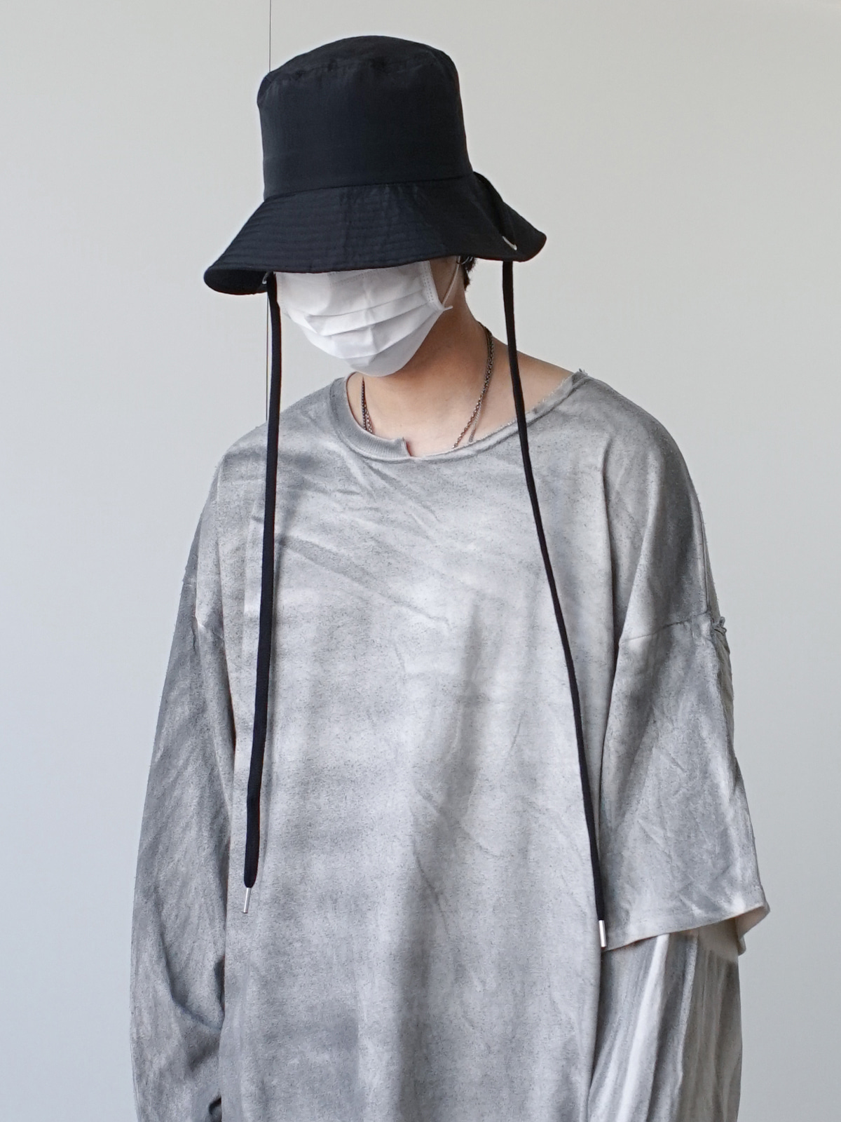 Metal Nylon Bucket Hat (3color)