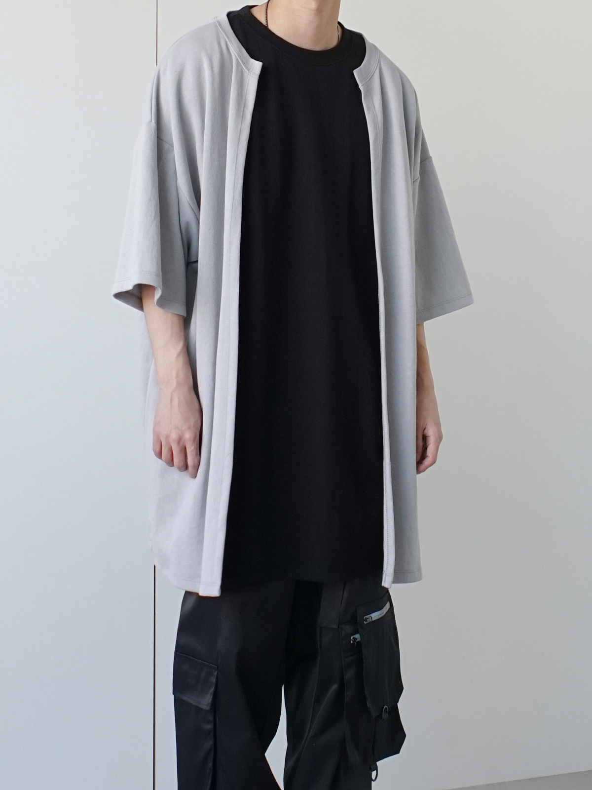 Double Layered Half Tee (2color)
