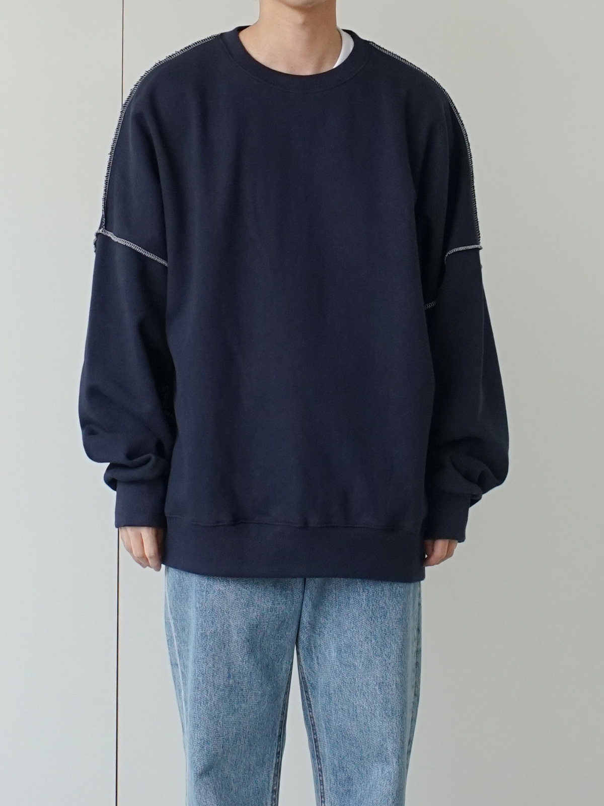 Out Stitch Over Sweatshirt (5color)