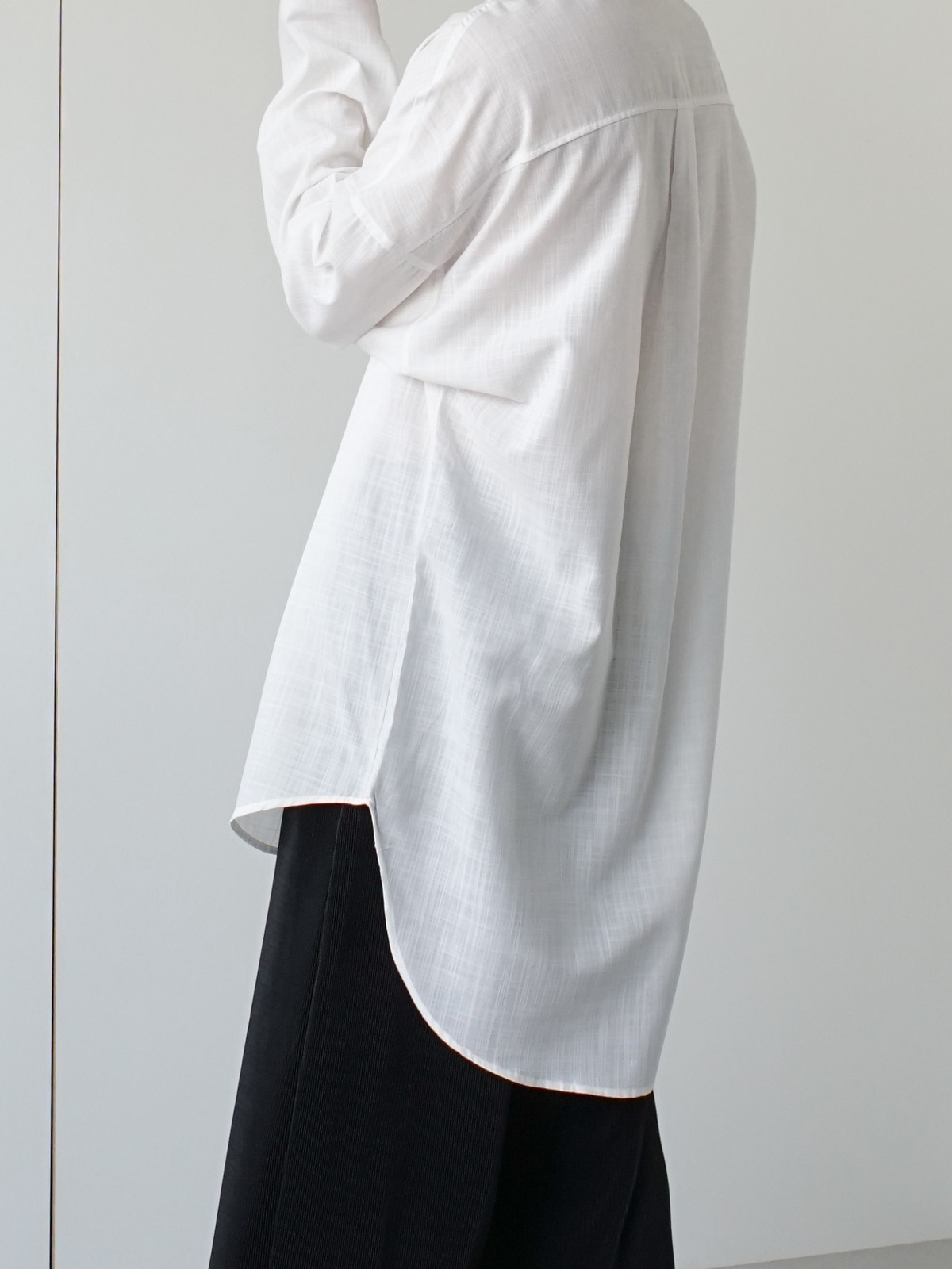Unit Over Long Linen Shirt (2color)