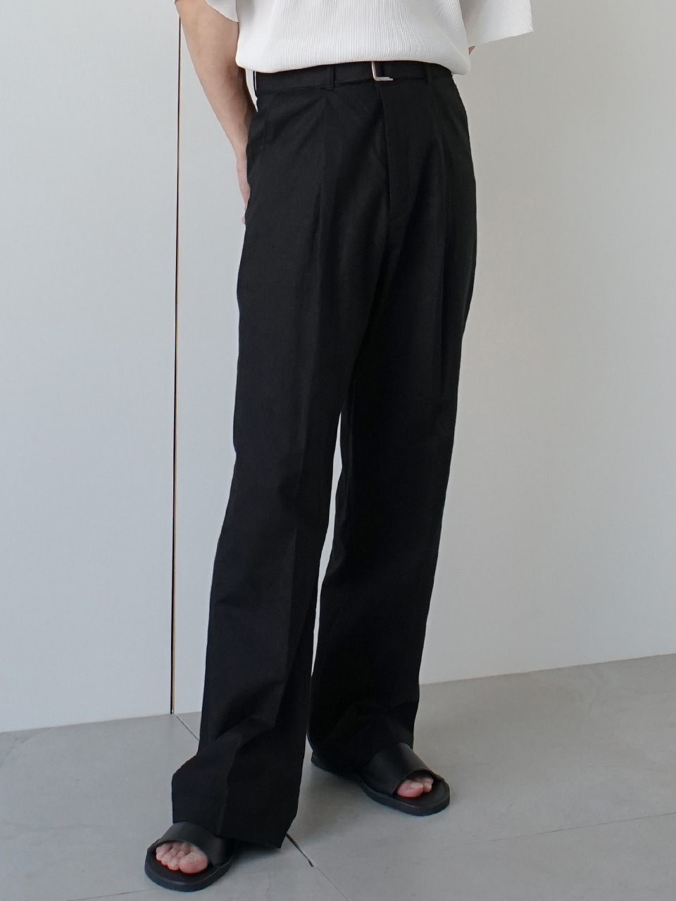 Martini Linen Belt Trousers (4color)