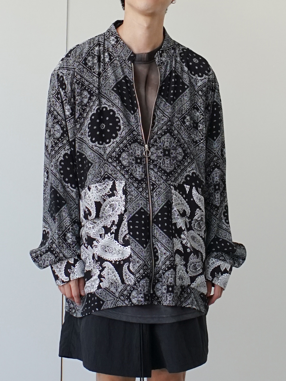 Syrus Paisley Shirt Jacket (2color)