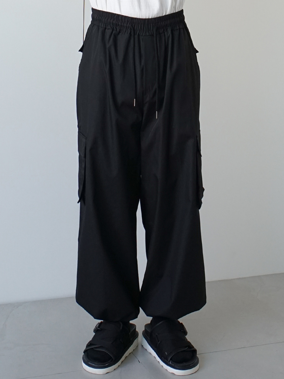 Little Cloud Wide Cargo Pants (2color)