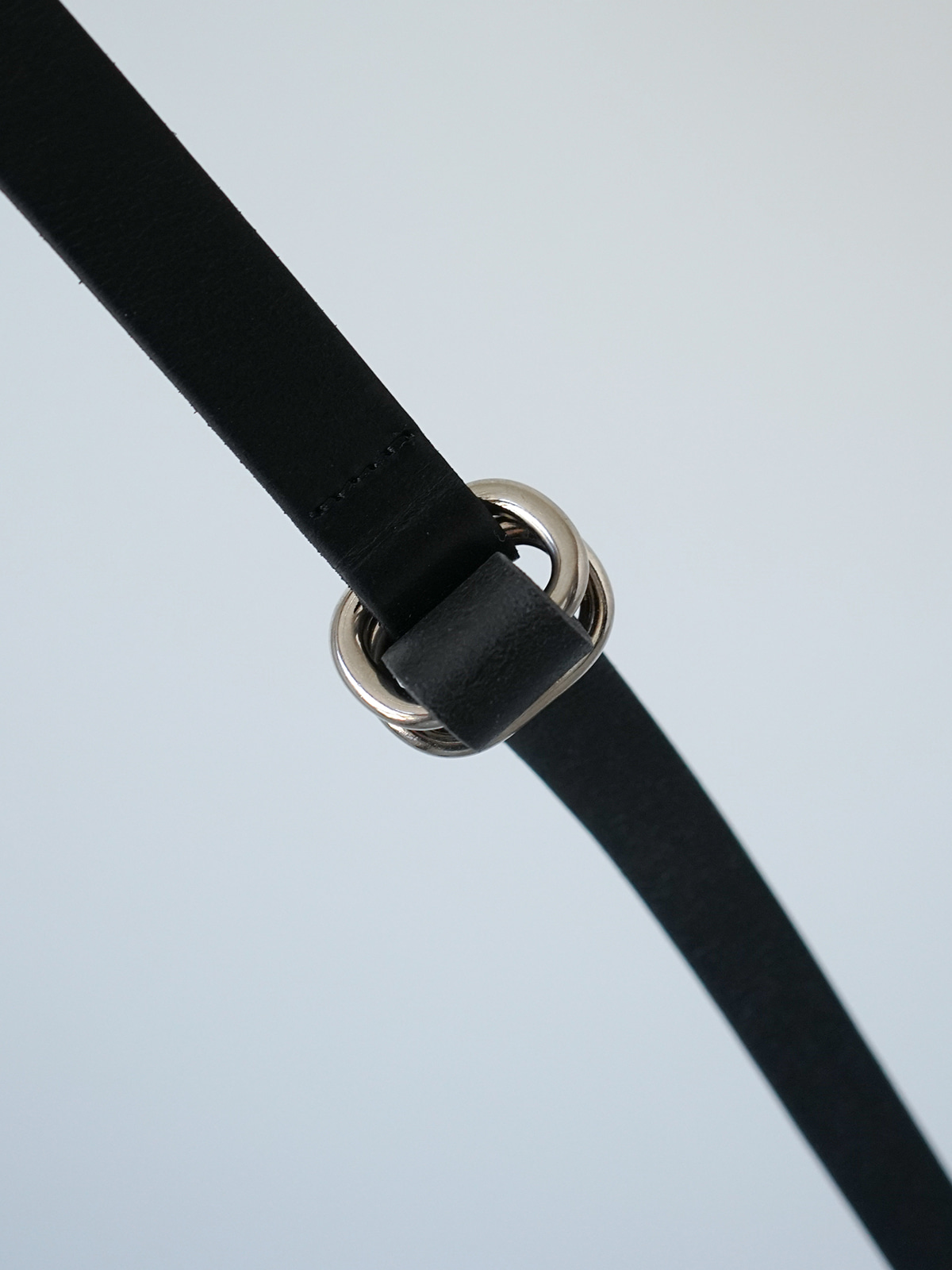 Double Round Leather Belt