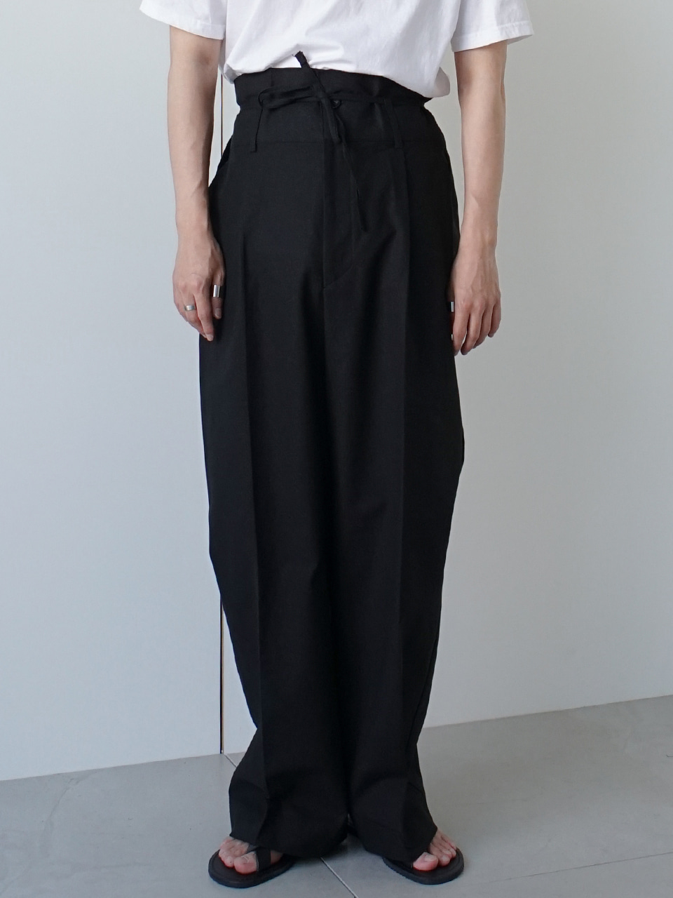 County High Waist Linen Wide Trousers (5color)