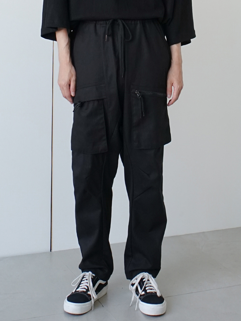 Nuel Front Pocket Track Pants (2color)
