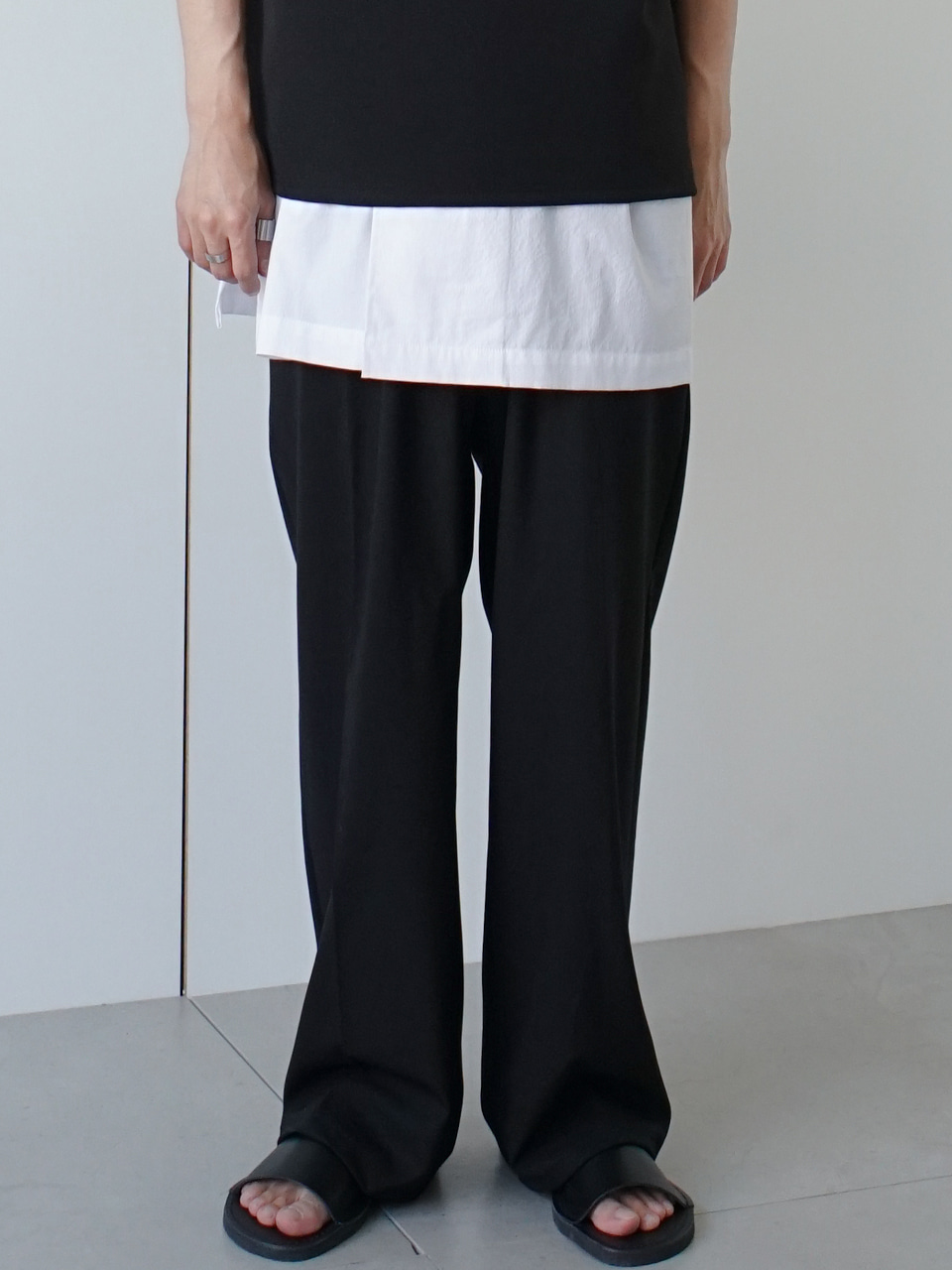 Overflow Wide Banding Trousers (2color)
