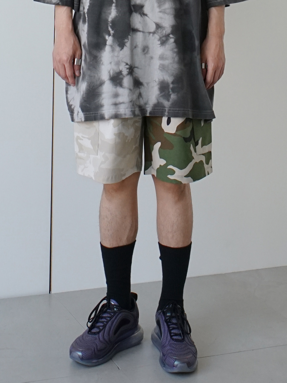 Days Mixed Camo Shorts