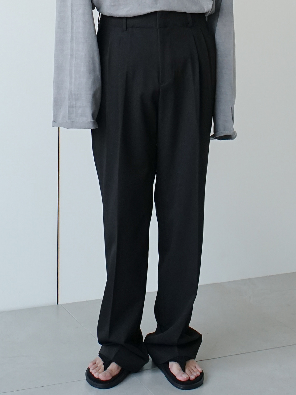 Least Pintuck Wide Trousers (2color)