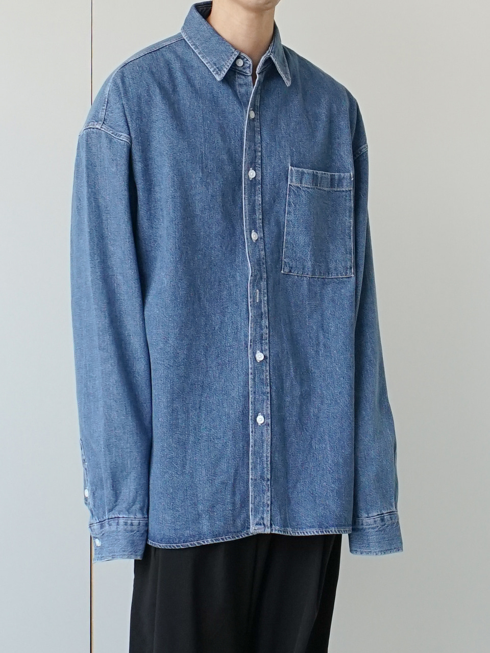 Retro Over Denim Shirt