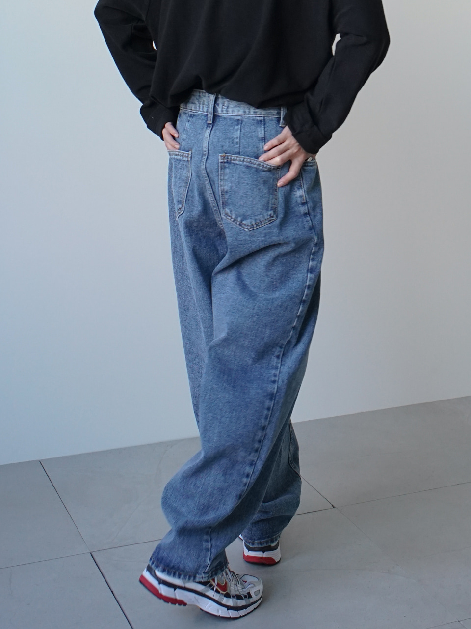 Mind Balloon Denim Pants