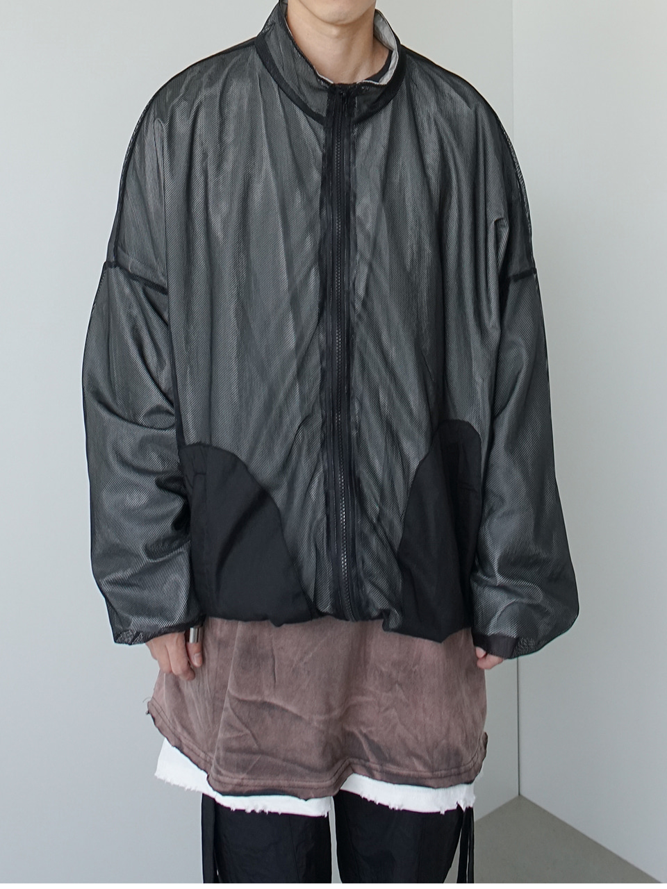 Around Reversed Mesh Track Jacket