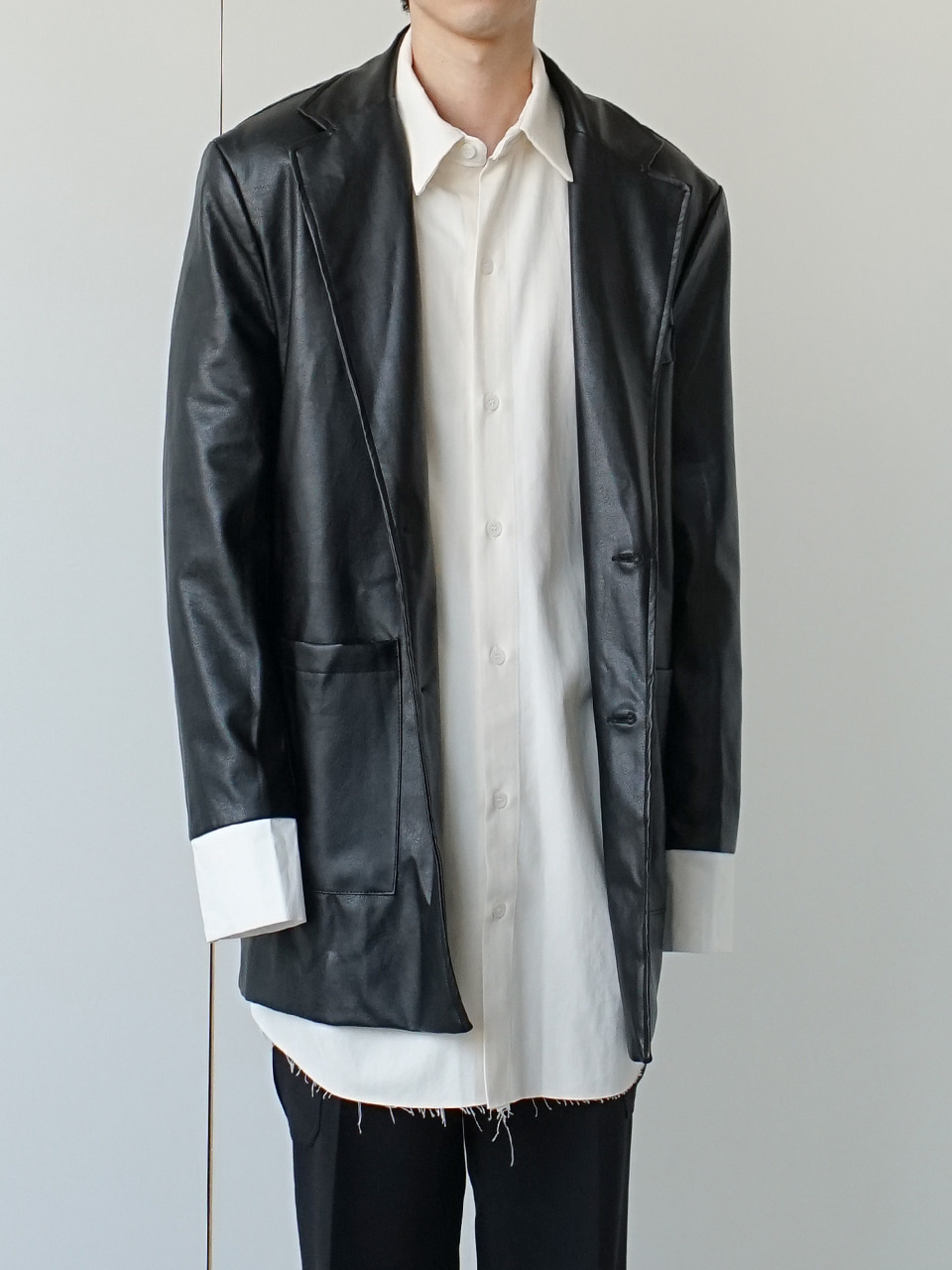 Perth Relaxed Leather Blazer
