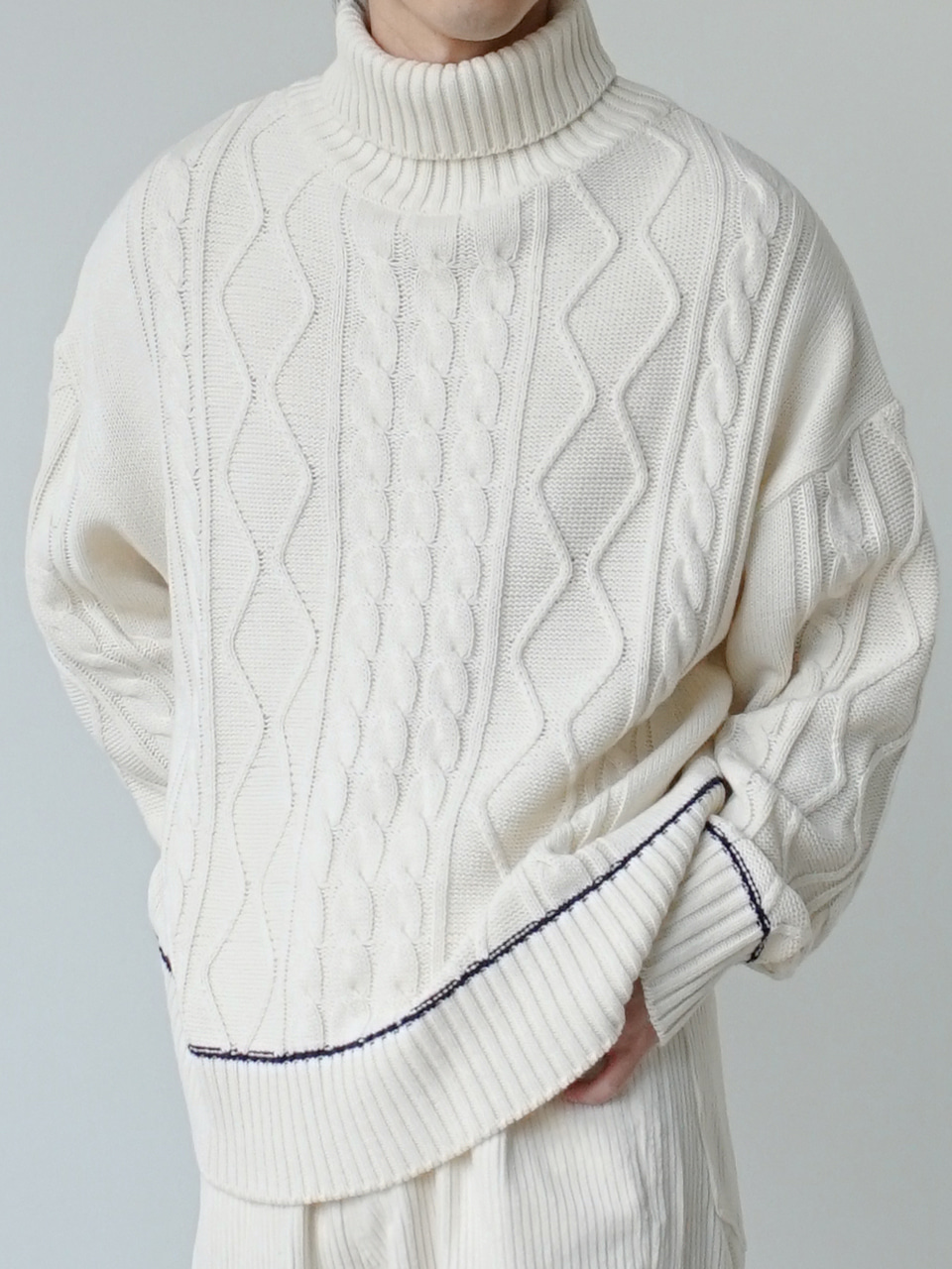 Marcus Cable Turtleneck Knit (3color)
