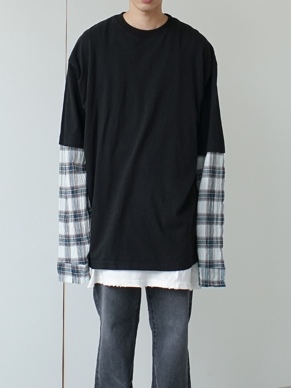 Number Double Layered Tee (2color)