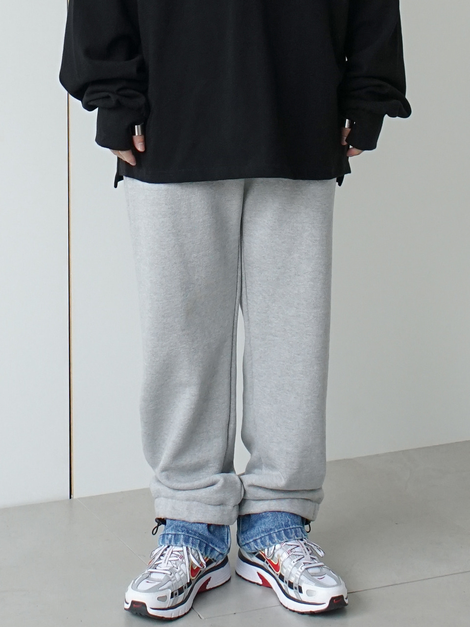 Andre Layered Sweat Pants (2color)