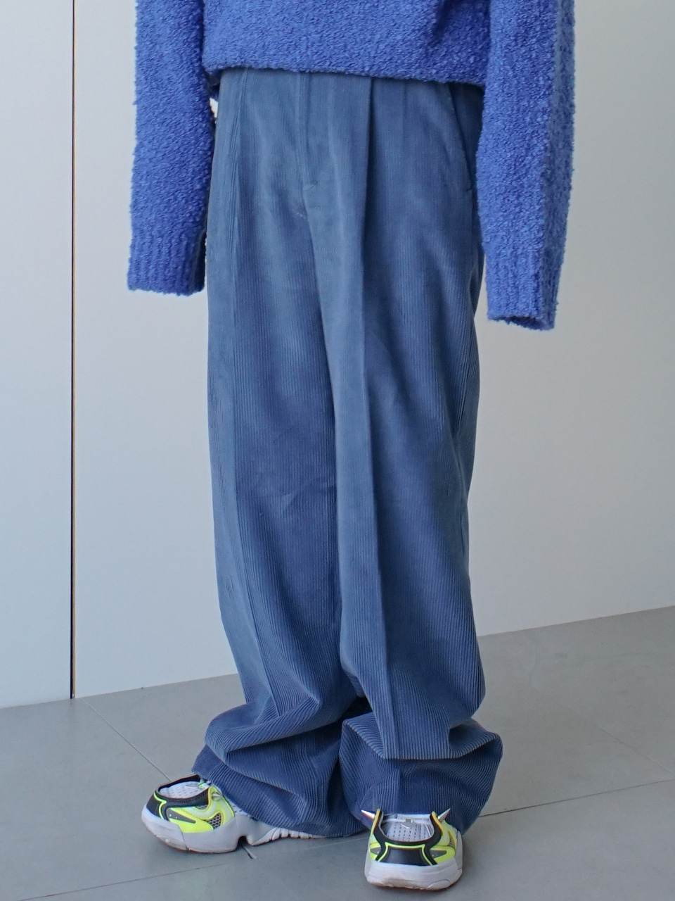 Masso Corduroy Pin Tuck Wide Pants (3color)
