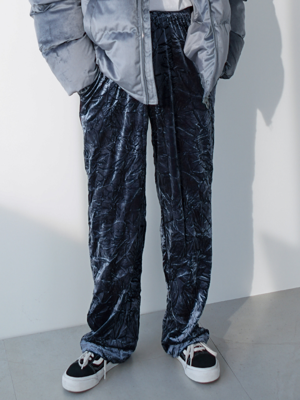 Rust Velvet Track Pants (2color)