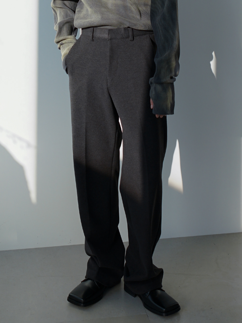 Rish Fleece Lined Semi Wide Trousers (2color)
