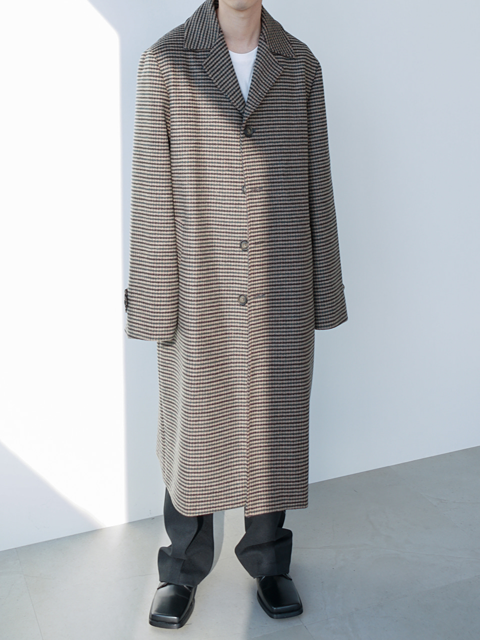 Wyler Check Long Coat (2color)