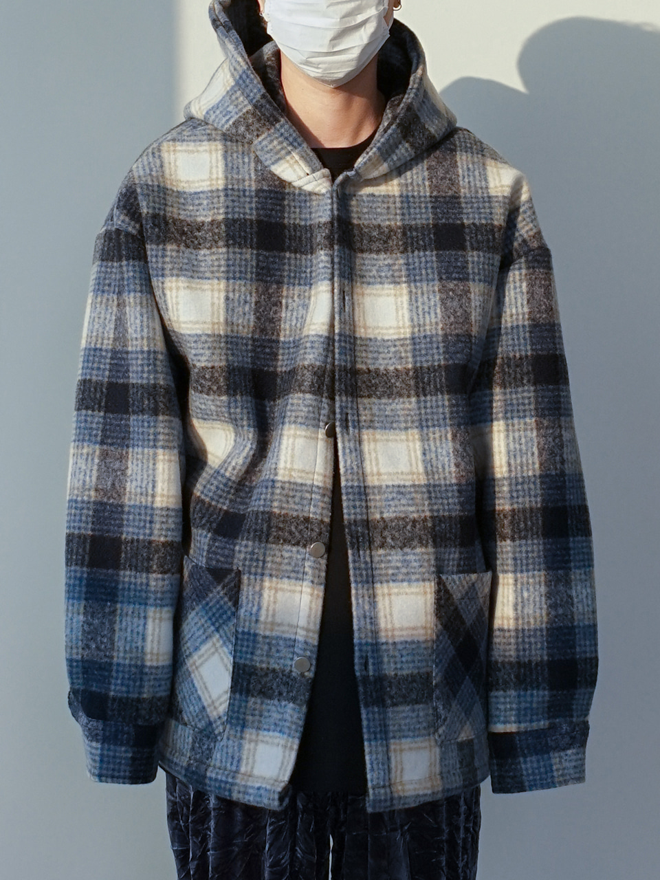 Marion Check Hooded Jacket (3color)
