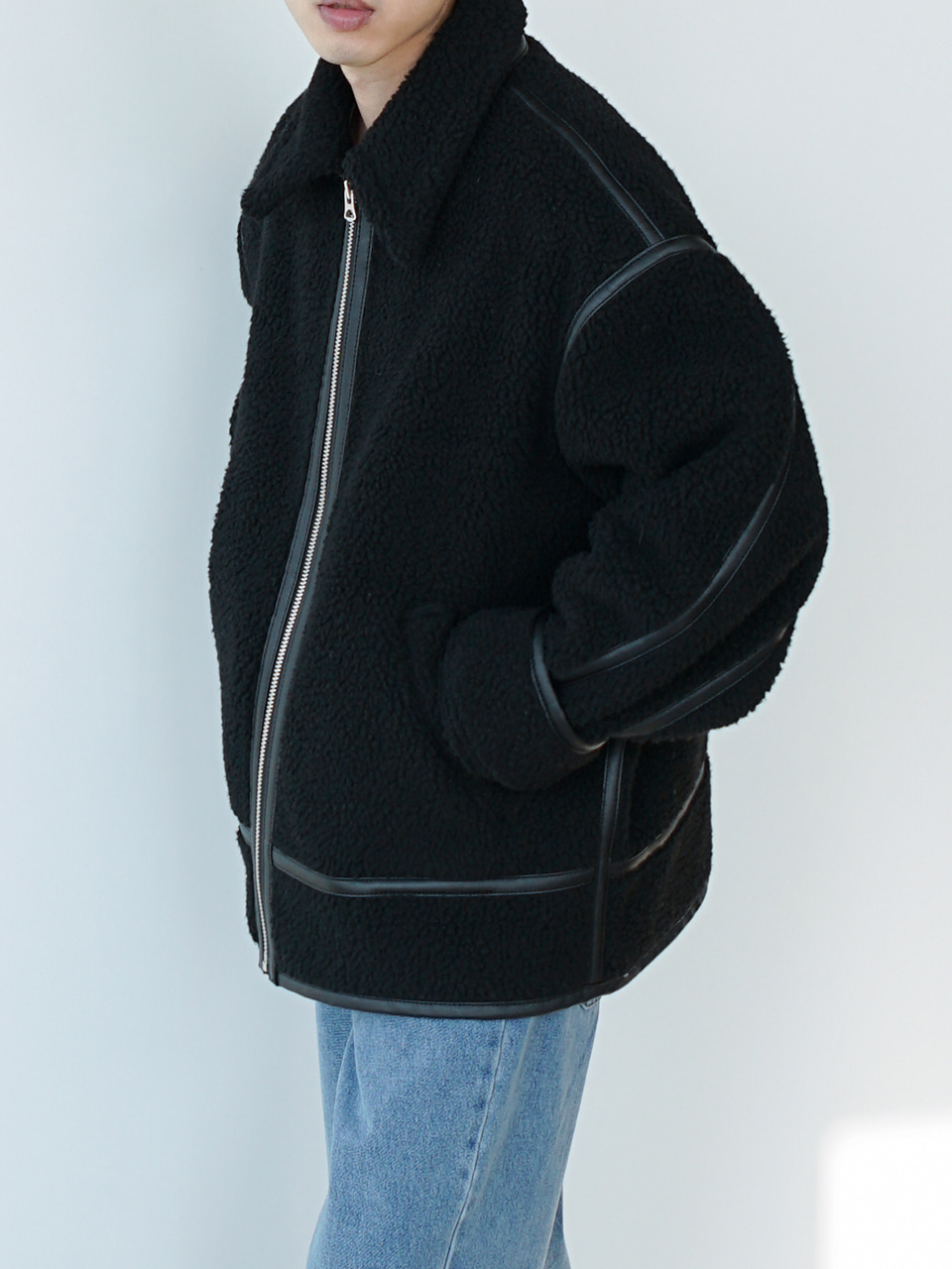 Cord Relaxed Shearling Jacket (3color)