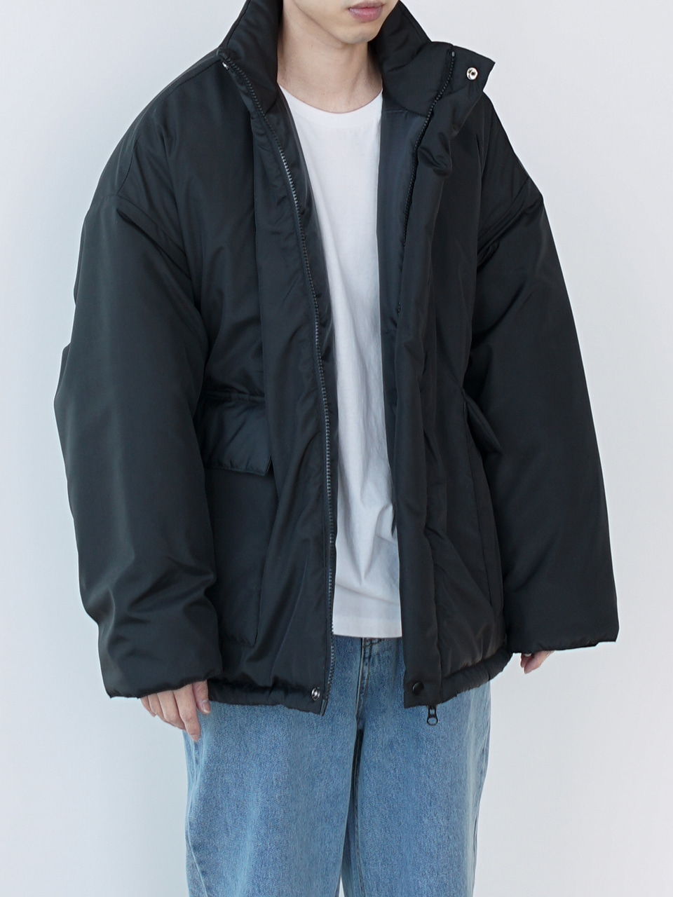 Means Hooded Padded Jacket (2color)